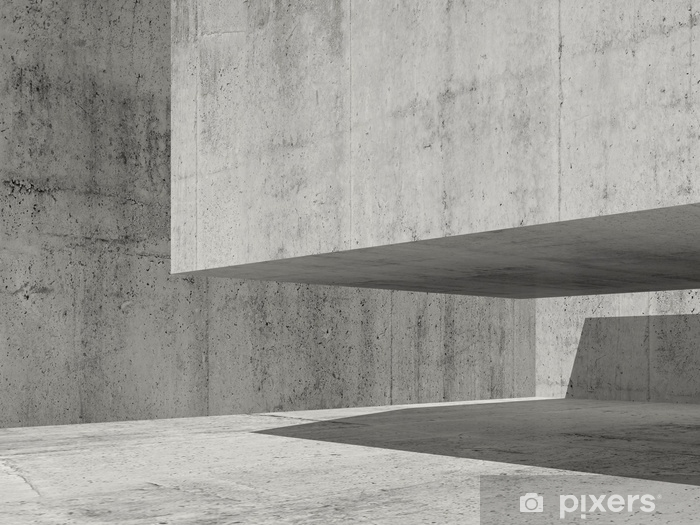 e01364a3b1e79f Fototapeta winylowa Współczesna minimalna architektura, 3d - Budynki i  architektura