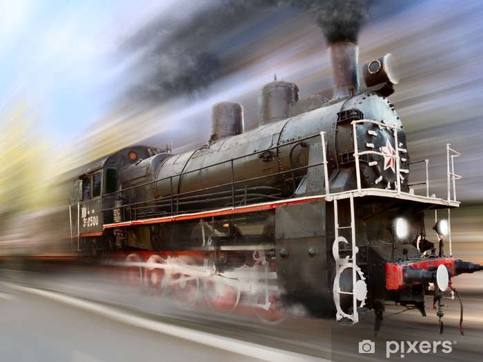 locomotive in motion blur Vinyl Wall Mural - Themes