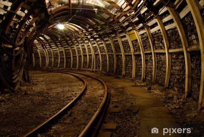 Mine underground corridor Vinyl Wall Mural - Themes