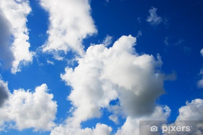 Nálepka Pixerstick Modrá obloha s nadýchané bílé mraky - Nebe