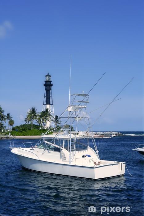Fototapeta winylowa Florida Latarnia morska plaża Pompano łodzie - Ameryka