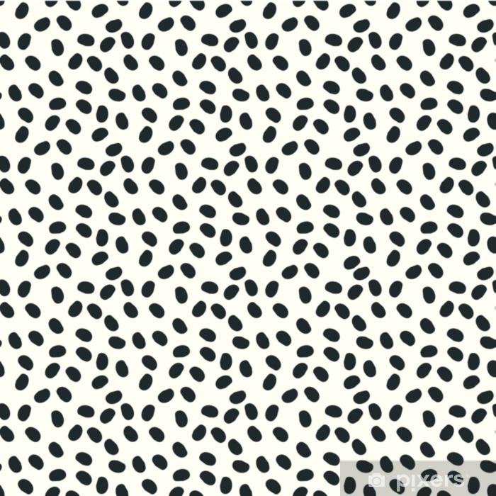 Sticker Pixerstick Points noirs et blancs vectoriels fond de repeint sans couture - Ressources graphiques