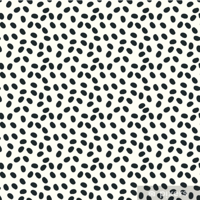 black and white dots vector seamless repeapt background Washable Wall Mural - Graphic Resources