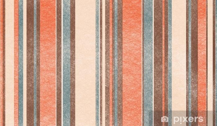 Fototapeta zmywalna Projekt retro paleta kolorów tła z cienkimi i grubymi pionowymi liniami w paski z szorstką teksturą w odcieniach brązowego beżu i niebieskiego odcienia vintage - Zasoby graficzne