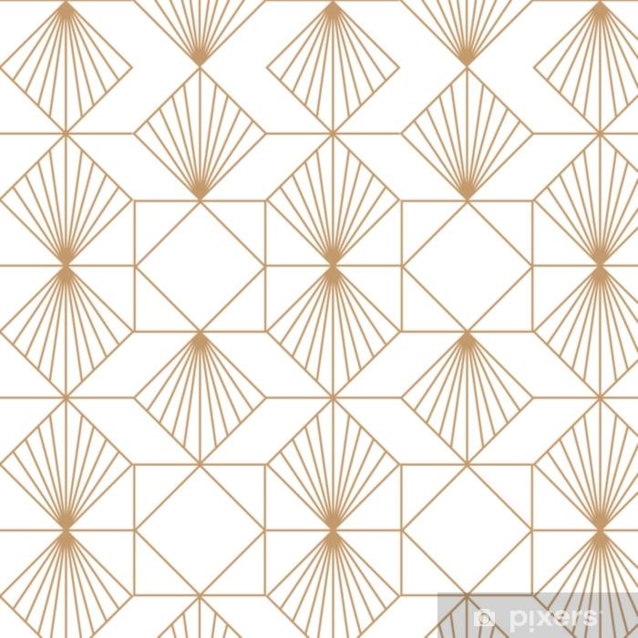 Art deco retro seamless pattern. Vector art. Pixerstick Sticker - Graphic Resources