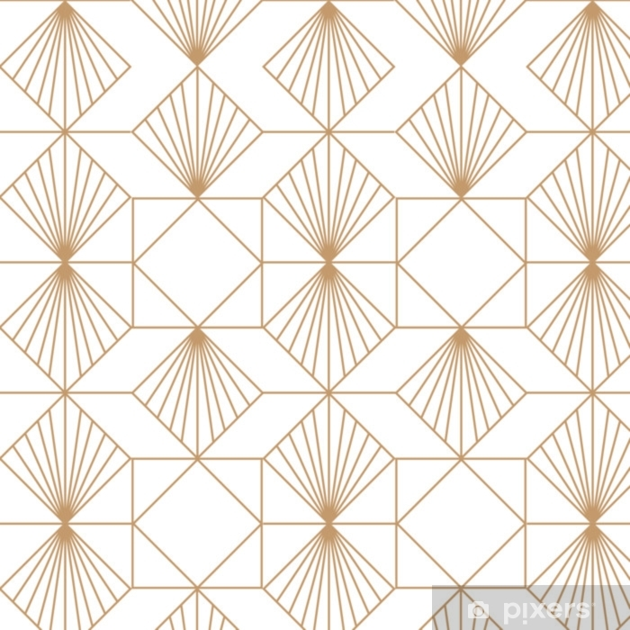 Art deco retro seamless pattern. Vector art. Washable Wall Mural - Graphic Resources