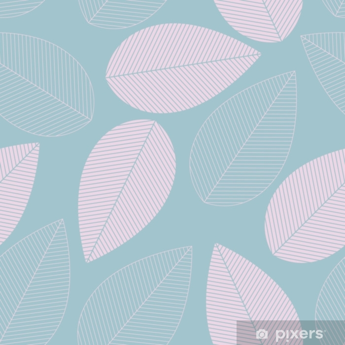 Leaf seamless pattern blue and pink color. Pixerstick Sticker - Graphic Resources