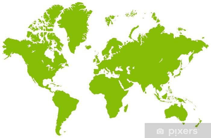 Fototapete World map • Pixers® - Wir leben, um zu verändern