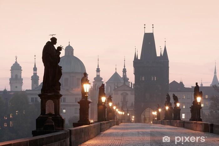 Fototapet av Vinyl Prag - charles bridge - Prag