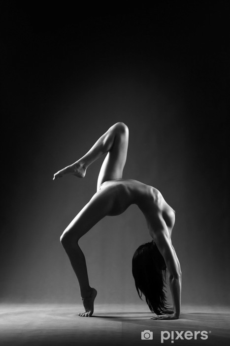 Pixerstick Sticker Gymnastiek naakt - Gezondheid