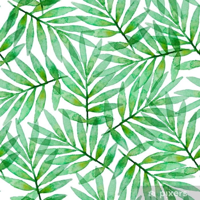 Tropikal Sulu Boya Dikissiz Desen Cam Ve Pencere Cikartmasi