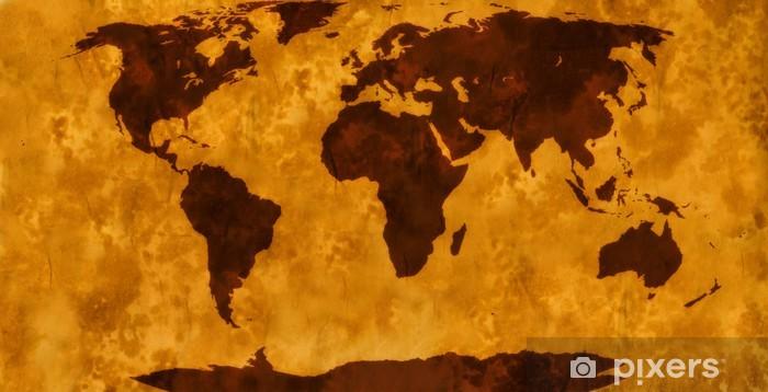 Sticker Pixerstick Carte du monde millésime - Thèmes