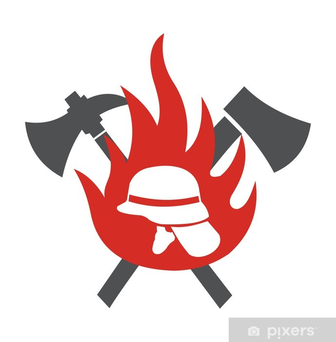 Sticker Pixerstick Logo Feuerwehr - Vie