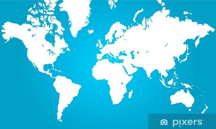 Clear World Map Door Sticker