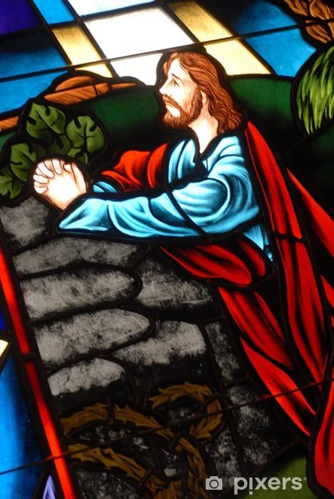 Vinyl Fotobehang Glas in lood raam - Religie