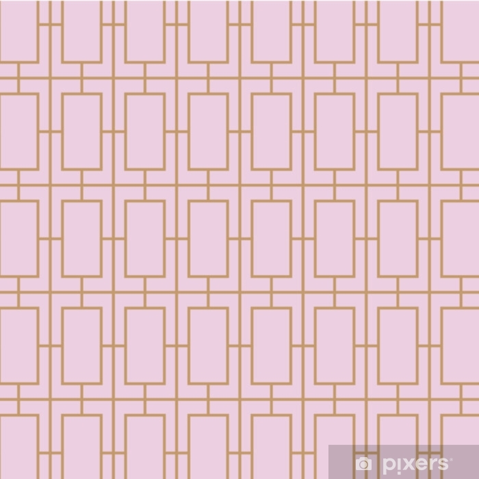 Pixerstick Sticker Art deco, vintage, retro, naadloze vector patroon. - Grafische Bronnen