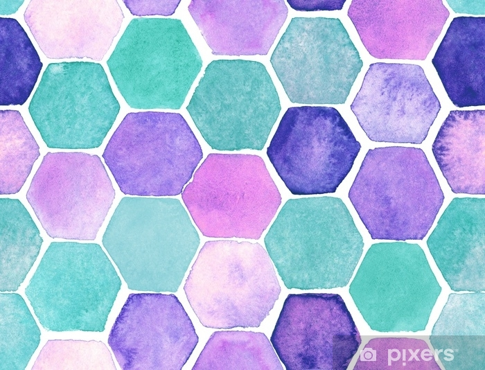 Hexagon pattern Vinyl Wall Mural - Graphic Resources