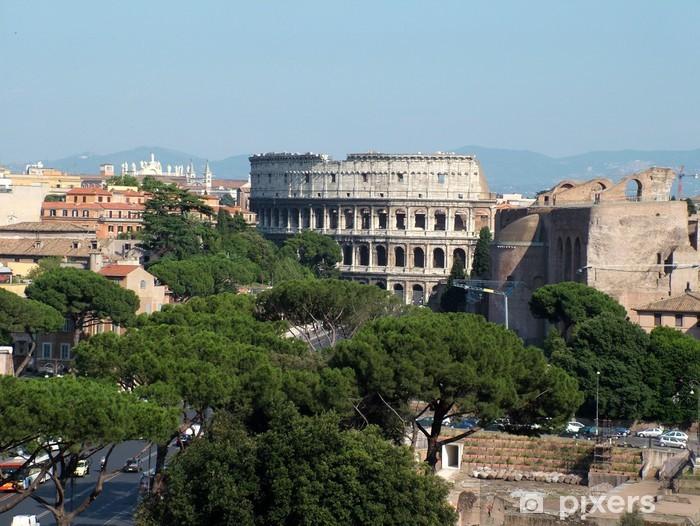 Vinilo Pixerstick Scorcio del Colosseo - Ciudades europeas