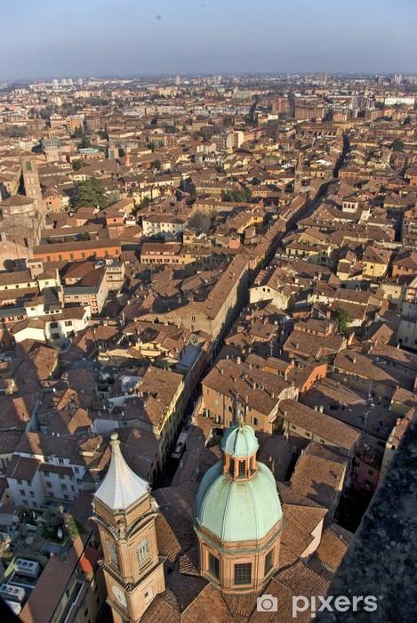 Vinyl Fotobehang Bologna: panorama dalla Torre degli Asinelli - Vakantie
