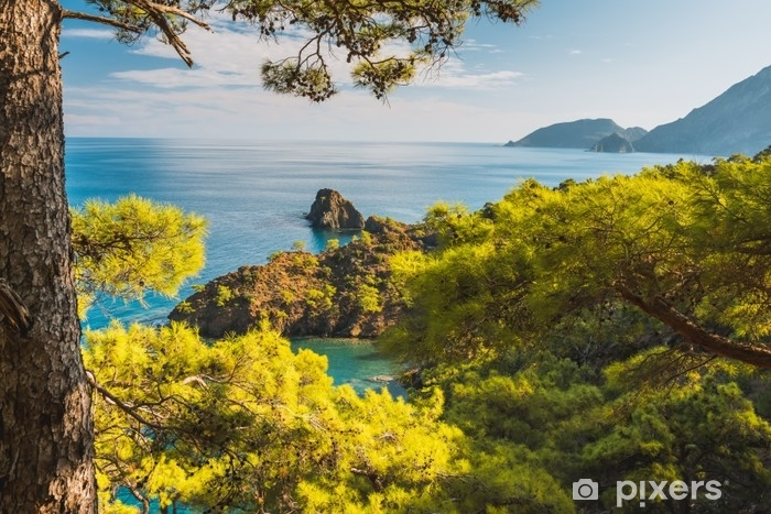 Fotomural Lavable Playa en el mar Mediterráneo. Antalya, Turquía - Paisajes