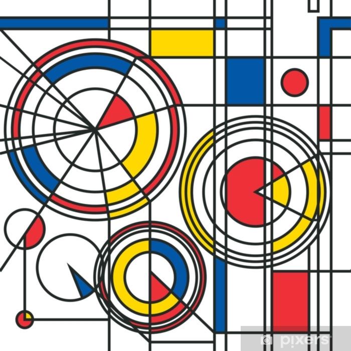 Pixerstick Sticker Geel rood blauw abstract patroon - Hobby's en Vrije tijd