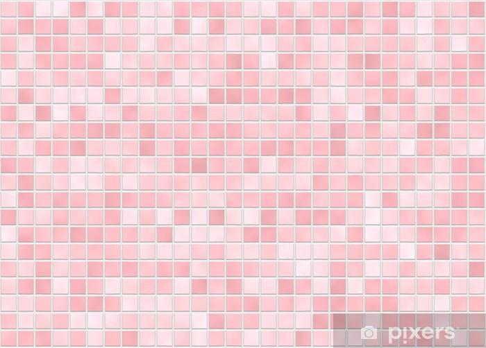 Autocolante Pixerstick fliesen rosa tile pink • Pixers