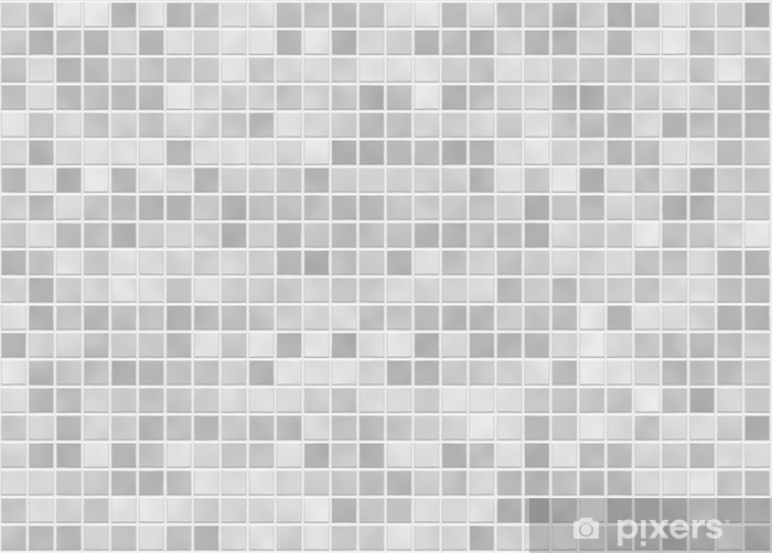 Papier peint vinyle Fliesen carreaux gris grau - Carreaux