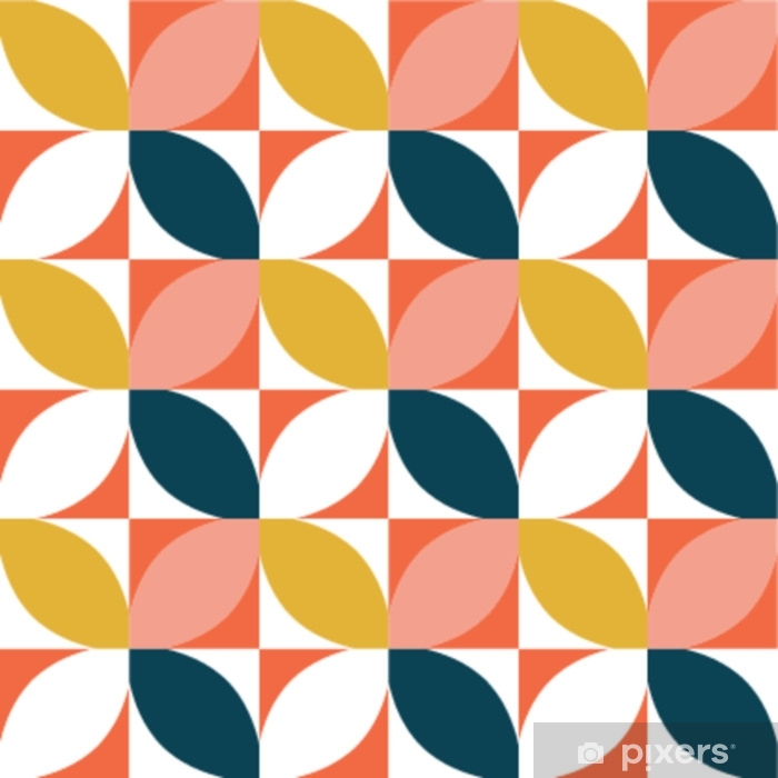 Cojín decorativo Colorido sin patrón geométrico. estilo de mediados de siglo. fondo del vector - Recursos gráficos