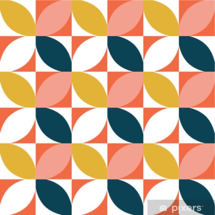 Decoratief sierkussen Kleurrijk geometrisch naadloos patroon. midden van de eeuw stijl. vector achtergrond. - Grafische Bronnen