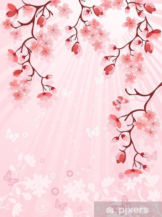 Papier Peint Japonais De Fleurs De Cerisier Pixers Nous Vivons