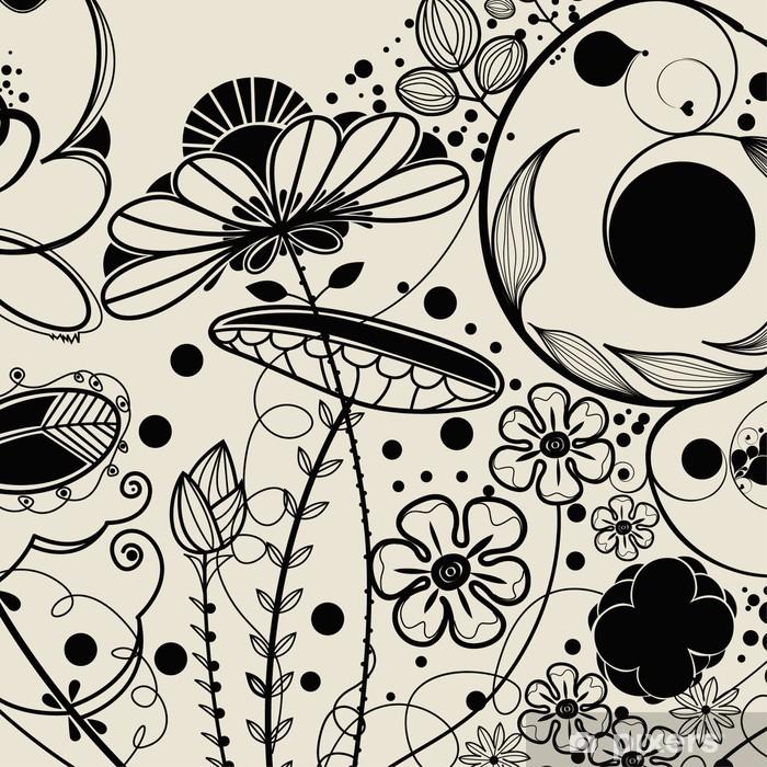 Vinyl-Fototapete Vektor Blume Hintergrund - Blumen