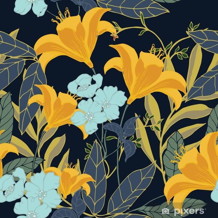 Poduszka dekoracyjna Abstrakcyjny wzór elegancji z kwiatów tle. - Rośliny i kwiaty