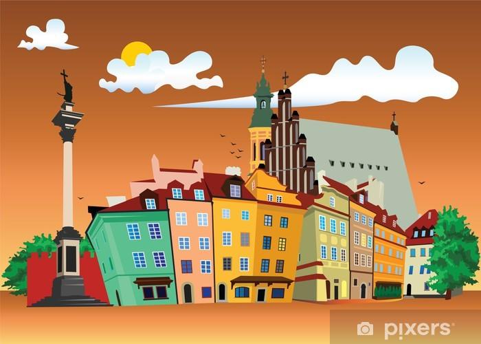 Vinilo Pixerstick Ciudad vieja, Varsovia - Temas