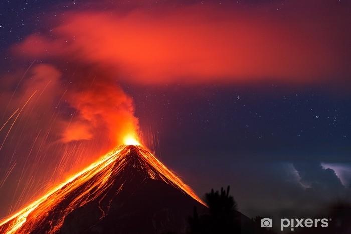 Fotomural Estándar Fuego, volcán, guatemala, 21.04.2018 - Paisajes