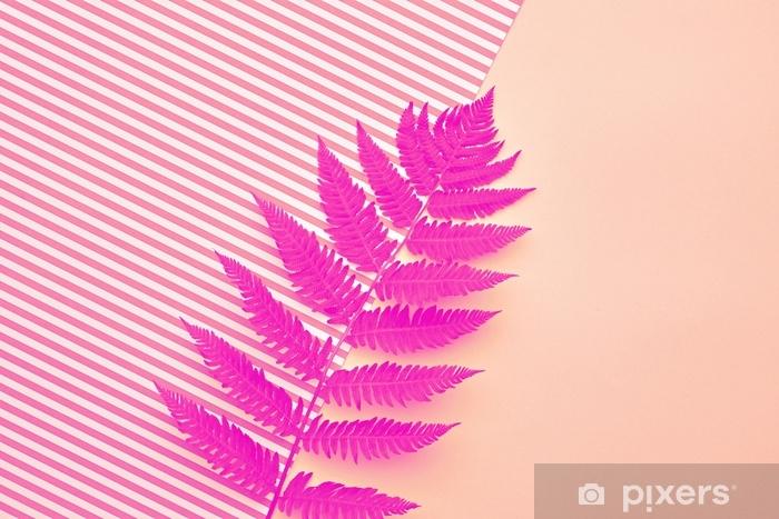 Fern Tropical Leaf. Floral Summer Fashion. Minimal Pixerstick Sticker - Hobbies and Leisure