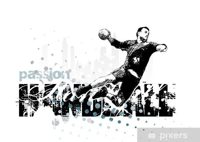 handball 1 Pixerstick Sticker - Team Sports