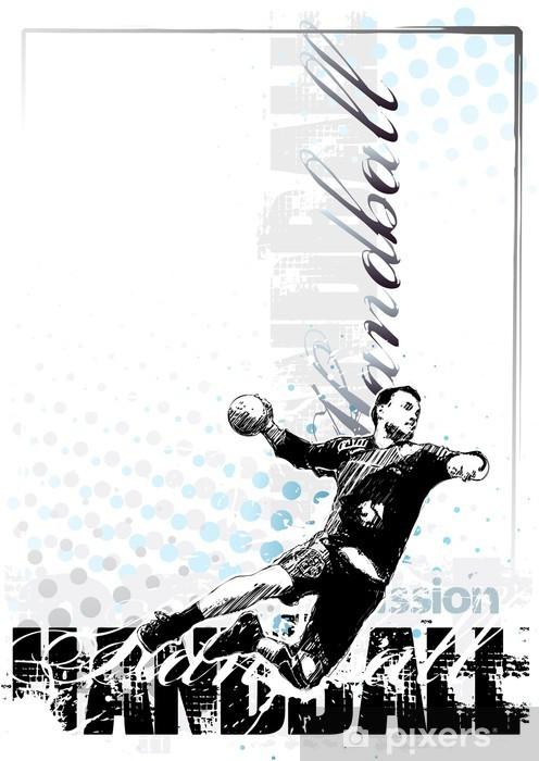 Dørklistremerke Håndball bakgrunn 1 - Lagidrett