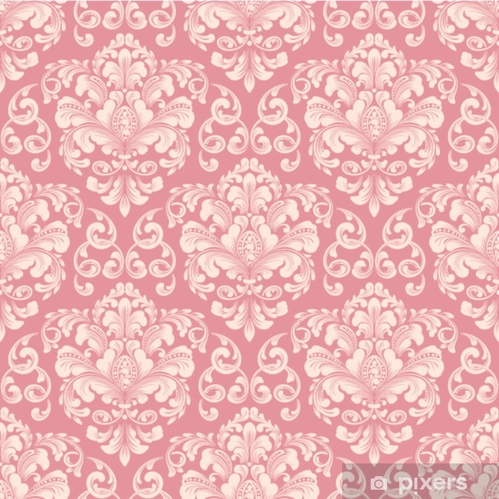 Vector damask seamless pattern background. Classical luxury old fashioned damask ornament, royal victorian seamless texture for wallpapers, textile, wrapping. Exquisite floral baroque template. Washable Wall Mural - Graphic Resources