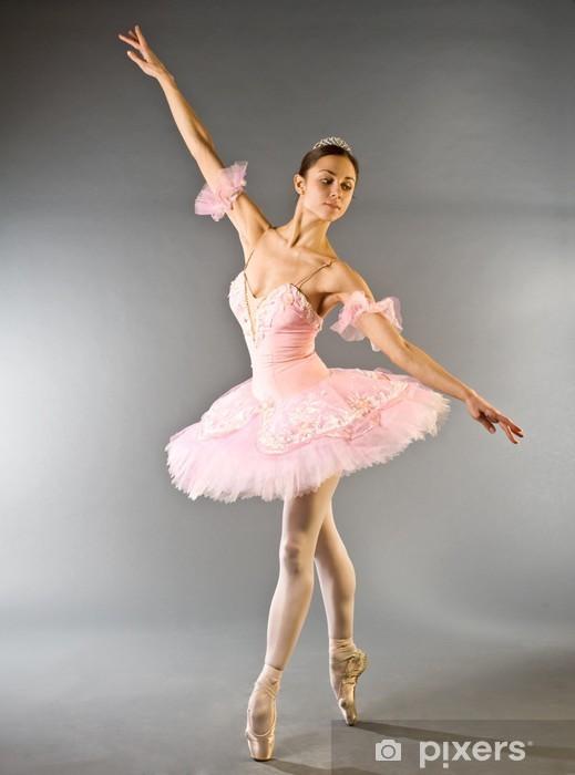 Fototapeta samoprzylepna Taniec baleriny na palec wyizolowanych - Tematy