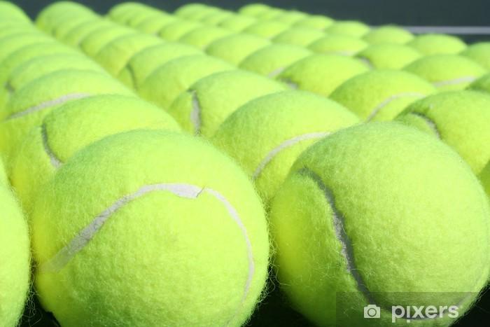 Papier peint vinyle Des rangées de balles de tennis - Tennis