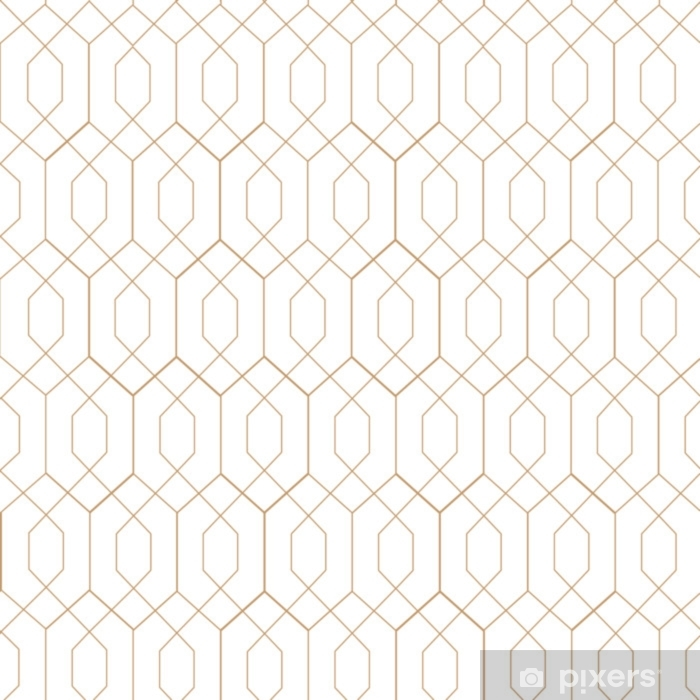 Art deco, seamless vector pattern. Retro art. Pixerstick Sticker - Graphic Resources