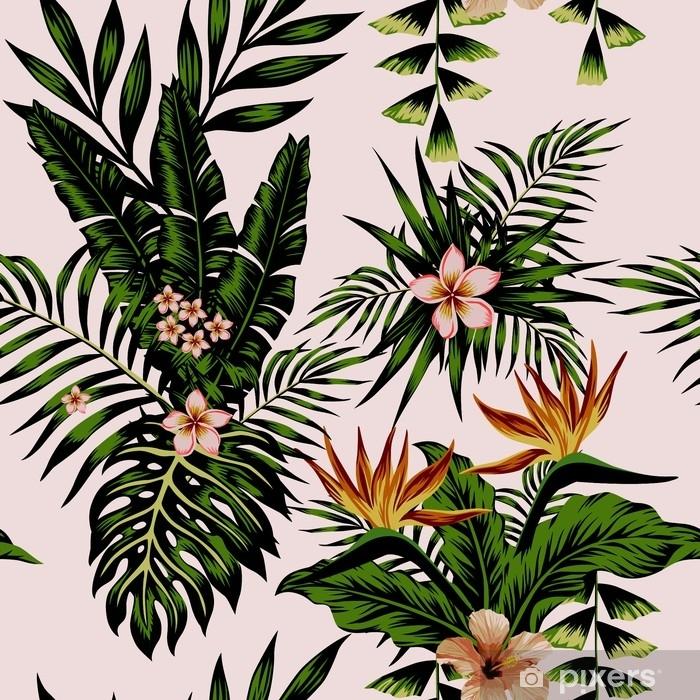 Pixerstick-klistremerke Eksotisk sammensetning blomster og planter - Planter og Blomster