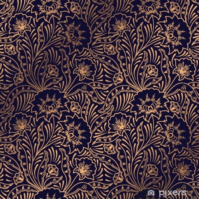 Sticker Vecteur De Fond De Luxe Motif Royal Floral Sans Soudure Conception Indienne Pour Fond D Ecran D Yoga Ornement De Salon De Beaute Spa Fete