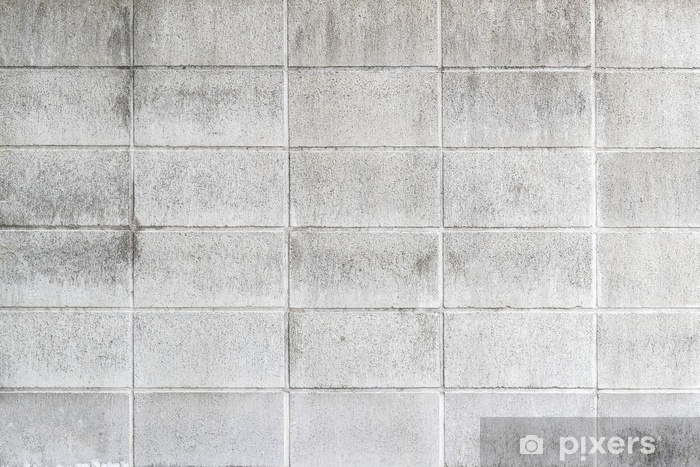 Papier peint lavable Modèle de mur de bloc de ciment et de fond - Ressources graphiques