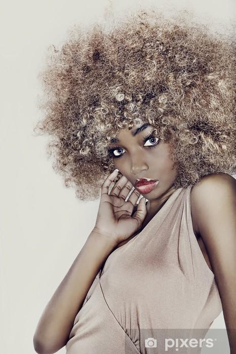 Naklejka Pixerstick Włosy modelu glamour - Moda