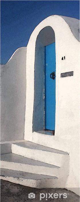 Sticker Pixerstick Porte bleue - Europe