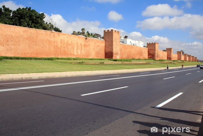 Naklejka Pixerstick Ściana Rabat, Maroko - Afryka