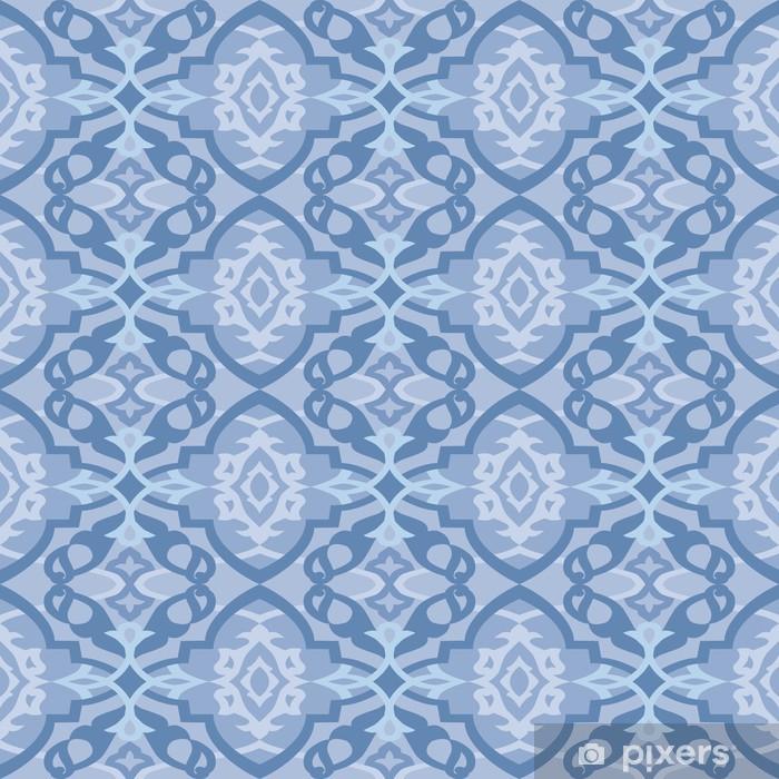 Fototapete Nahtlose Blaue Tapete Dekorativen Muster Pixers Wir