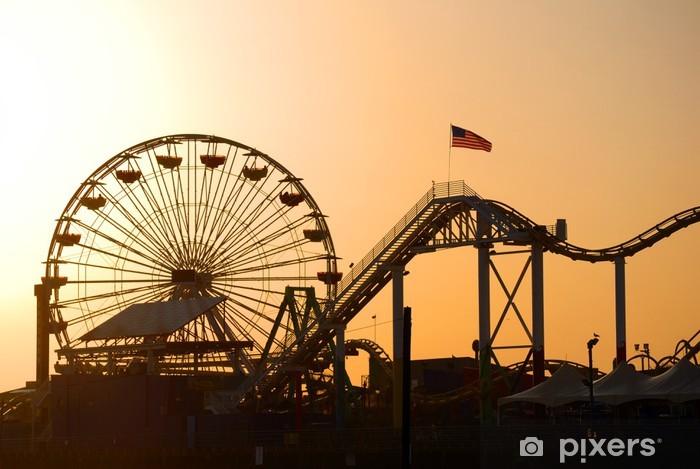 Vinyl-Fototapete Santa Monica Pier in Los Angeles - Themen