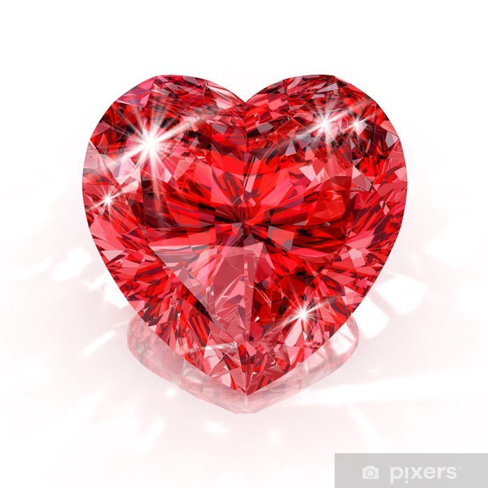 Poster Herzen Form Diamant - Internationale Feste